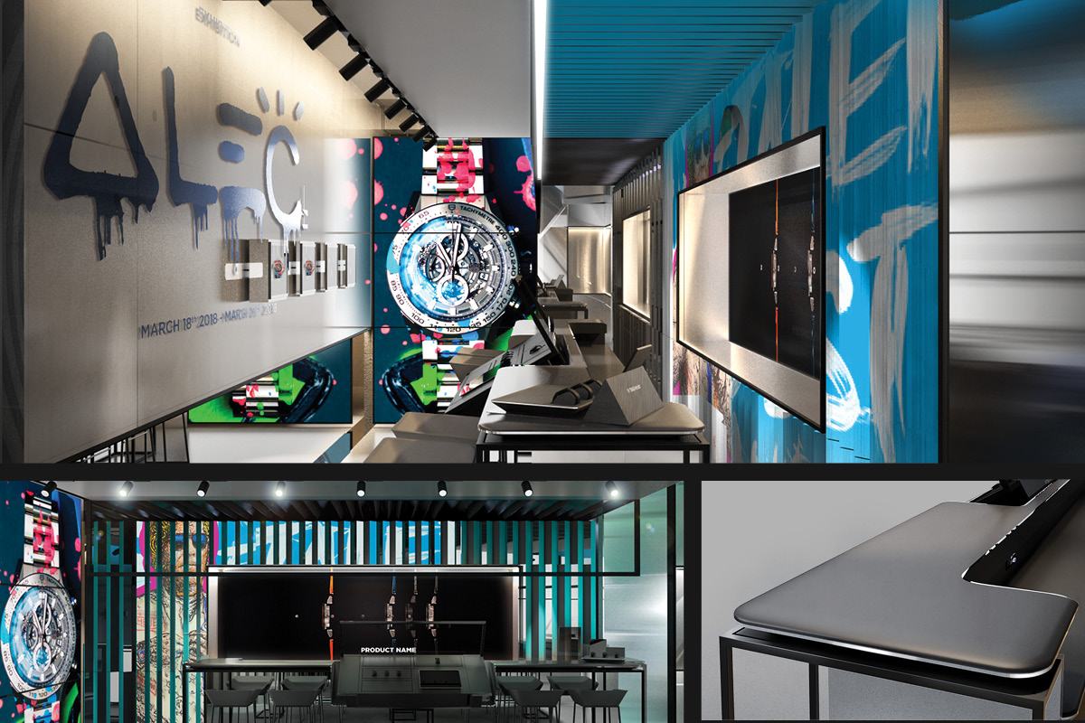 Basement-floor of the Tag Heuer Ginza Store