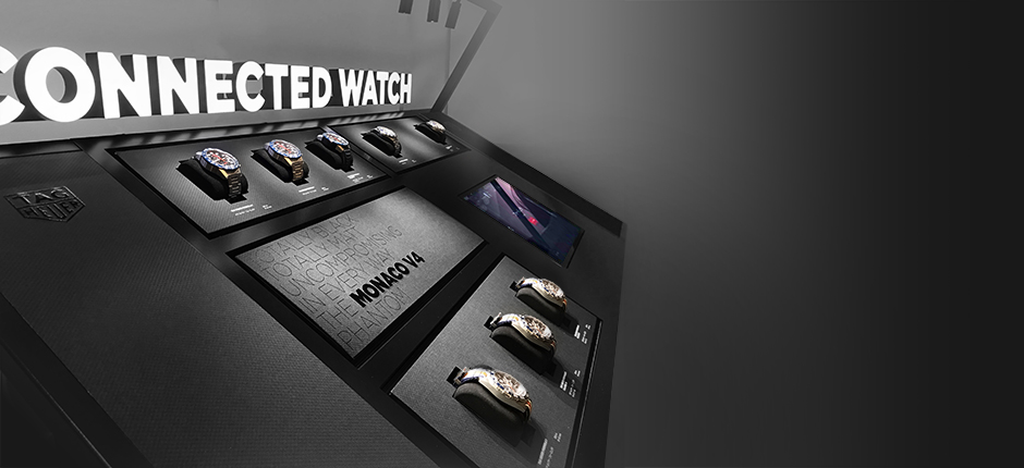 Connected display developed by WIPDesign for Tag Heuer