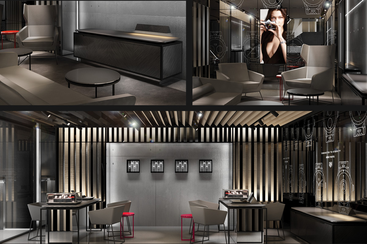Sales lounge of the Tag Heuer Ginza Store